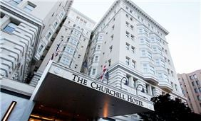 Front View Of Churchill Hotel Near Embassy Row Washington