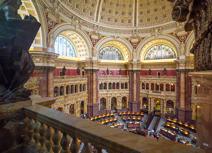 Library Of Congress Around Churchill Hotel, Washington
