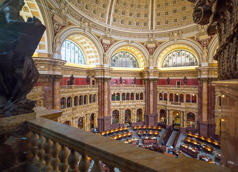 Library Of Congress Around Churchill Hotel, Washington
