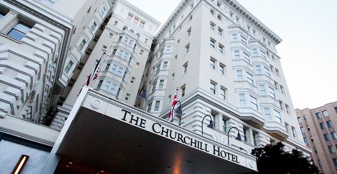 Location Of Churchill Hotel Near Embassy Row, Washington